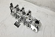 Offenhauser 3 Deuce Flat Head V8 Intake Manifold AFTER Chrome-Like Metal Polishing - Aluminum Polishing