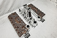 Eddie Meyer Aluminum Flathead Intake Manifold AFTER Chrome-Like Metal Polishing - Aluminum Polishing