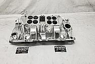 Edelbrock Dual Quad Oval Port Aluminum Intake Manifold AFTER Chrome-Like Metal Polishing - Aluminum Polishing