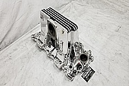 1957 Chevrolet Corvette Rochester Fuel Injection Aluminum Intake Manifold AFTER Chrome-Like Metal Polishing - Aluminum Polishing