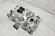 Edelbrock Performer RPM Aluminum Intake Manifold AFTER Chrome-Like Metal Polishing - Aluminum Polishing - Intake Polishing