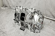 GM Aluminum Intake Manifold AFTER Chrome-Like Metal Polishing - Stainless Steel Polishing - Aluminum Polishing
