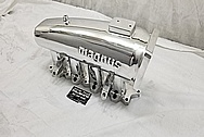 Magnus Aluminum 4 Cylinder Intake Manifold AFTER Chrome-Like Metal Polishing - Aluminum Polishing
