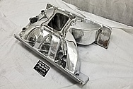 Aluminum 8 Cylinder Intake Manifold AFTER Chrome-Like Metal Polishing - Aluminum Polishing