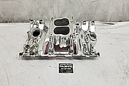 Edelbrock Aluminum Intake Manifold AFTER Chrome-Like Metal Polishing - Aluminum Polishing