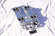 Offenhauser V8 4 Deuce Aluminum Intake Manifold AFTER Chrome-Like Metal Polishing and Buffing Services