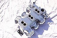 Offenhauser V8 Tri - Power Aluminum Intake Manifold AFTER Chrome-Like Metal Polishing and Buffing Services