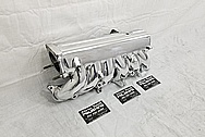 1993 - 1998 Toyota Supra Aluminum Upepr and Lower Intake Manifold AFTER Chrome-Like Metal Polishing and Buffing Services - Aluminum Polishing