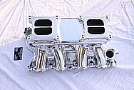Offenhauser Tunnelram Aluminum Intake Manifold AFTER Chrome-Like Metal Polishing and Buffing Services