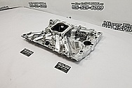 Edelbrock Aluminum 8 Cylinder Intake Manifold AFTER Chrome-Like Metal Polishing and Buffing Services - Aluminum Polishing