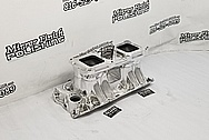 Weiand Aluminum V8 Intake Manifold AFTER Chrome-Like Metal Polishing and Buffing Services - Aluminum Polishing