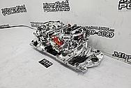 Edelbrock Aluminum V8 Intake Manifold and Carburetors AFTER Chrome-Like Metal Polishing and Buffing Services / Restoration Services - Aluminum Polishing