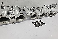 Toyota Supra 2JZ-GTE Aluminum 6 Cylinder Intake Manifold AFTER Chrome-Like Metal Polishing and Buffing Services / Restoration Services - Aluminum Polishing Plus Custom Performance Porting Services - Horsepower Performance Modifications