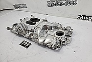 Edelbrock Performer RPM Aluminum 8 Cylinder Intake Manifold Project AFTER Chrome-Like Metal Polishing and Buffing Services / Restoration Services - Aluminum Polishing