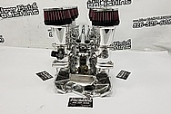 Ingles Aluminum Intake Manifold, Throttle Bodies and Stacks AFTER Chrome-Like Metal Polishing and Buffing Services / Restoration Services - Aluminum Polishing