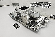 Edelbrock Aluminum Intake Manifold AFTER Chrome-Like Metal Polishing and Buffing Services / Restoration Services - Aluminum Polishing