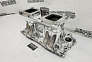 Weiand Aluminum V8 Intake Manifold AFTER Chrome-Like Metal Polishing and Buffing Services / Restoration Services - Aluminum Polishing