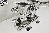 Edelbrock Aluminum V8 Intake Manifold AFTER Chrome-Like Metal Polishing and Buffing Services / Restoration Services - Aluminum Polishing