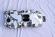 Chevy Corvette 427 Aluminum Intake Manifold AFTER Chrome-Like Metal Polishing and Buffing Services