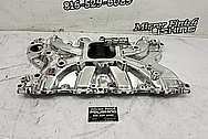 Edelbrock Torker II Aluminum Intake Manifold AFTER Chrome-Like Metal Polishing and Buffing Services - Aluminum Polishing Service - Intake Polishing