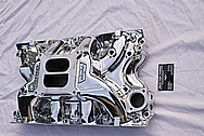 Ford 429 V8 Aluminum Intake Manifold AFTER Chrome-Like Metal Polishing and Buffing Services