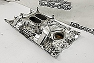 GM Aluminum Rough Condition Intake Manifold AFTER Chrome-Like Metal Polishing and Buffing Services - Intake Polishing Services