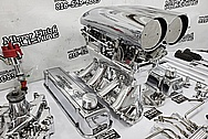 1949 Ford F1 Truck Ford 460 Aluminum Engine Parts / Intake Manifold Carburetor Project AFTER Chrome-Like Metal Polishing and Buffing Services - Aluminum Polishing - Intake Polishing