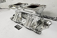 Weiand V8 Aluminum Intake Manifold AFTER Chrome-Like Metal Polishing - Aluminum Polishing - Intake Manifold Polishing