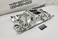 Edelbrock Performer RPM V8 Aluminum Intake Manifold AFTER Chrome-Like Metal Polishing - Aluminum Polishing - Intake Manifold Polishing