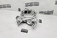 Edelbrock Aluminum V8 Intake Manifold AFTER Chrome-Like Metal Polishing and Buffing Services / Restoration Services - Intake Manifold Polishing
