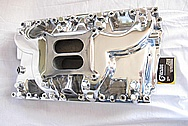 Hemi V8 426 Aluminum Intake Manifold AFTER Chrome-Like Metal Polishing and Buffing Services