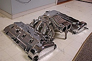 Ford Mustang Cobra V8 Aluminum Valve Covers AFTER Chrome-Like Metal Polishing and Buffing Services