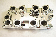 Small Block Chevy Inglese Oval Port IDF NG1676 Aluminum Intake Manifold AFTER Chrome-Like Metal Polishing and Buffing Services Plus Clearcoating Services
