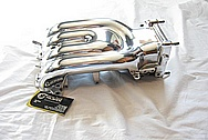 1993 Mazda RX7 Rotary Aluminum Intake Manifold AFTER Chrome-Like Metal Polishing and Buffing Services Plus Clearcoating Services