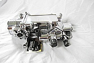 Ford Mustang V8 Aluminum Intake Manifold / Throttle Body AFTER Chrome-Like Metal Polishing and Buffing Services