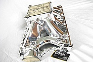 Small Block Ford World Products V8 Aluminum Intake Manifold AFTER Chrome-Like Metal Polishing and Buffing Services