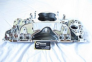 Aluminum V8 Holley Intake Manifold AFTER Chrome-Like Metal Polishing and Buffing Services