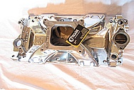1967 Chevy Camaro V8 Intake Manifold AFTER Chrome-Like Metal Polishing and Buffing Services