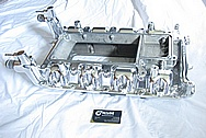 2007 Ford Shelby GT500 Aluminum V8 Intake Manifold AFTER Chrome-Like Metal Polishing and Buffing Services