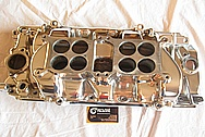 Ford Aluminum V8 Intake Manifold AFTER Chrome-Like Metal Polishing and Buffing Services