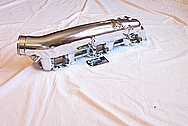 1991 Nissan Skyline GTR Aluminum Intake Manifold AFTER Chrome-Like Metal Polishing and Buffing Services