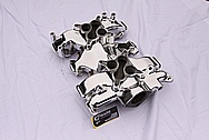 Vintage Aluminum Ford Thunderbird Aluminum Intake Manifold AFTER Chrome-Like Metal Polishing and Buffing Services
