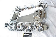 Aluminum Ford Mustang Kenne Bell Blower / Supercharger Intake Manifold AFTER Chrome-Like Metal Polishing and Buffing Services