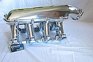 Aluminum Holley EFI Chevy LS1 V8 Intake Manifold AFTER Chrome-Like Metal Polishing and Buffing Services