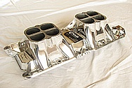 Weiand Big Block Ford Aluminum V8 Intake Manifold AFTER Chrome-Like Metal Polishing and Buffing Services