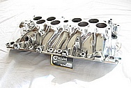 Ford Mustang Aluminum 5.8L V8 GT40 Lower Intake Manifold AFTER Chrome-Like Metal Polishing and Buffing Services