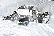 Rough Cast V8 Aluminum Intake Manifold AFTER Chrome-Like Metal Polishing and Buffing Services