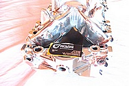 Late Model 502 Chevy V8 Big Block Holly Aluminum Intake Manifold AFTER Chrome-Like Metal Polishing and Buffing Services
