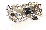 1970 Chevy Big Block V8 Vintage Aluminum Intake Manifold AFTER Chrome-Like Metal Polishing and Buffing Services