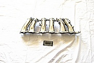Toyota Supra 2JZ-GTE I6 Turbo Aluminum Lower Intake Manifold AFTER Chrome-Like Metal Polishing and Buffing Services